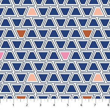 A Life In Pattern - Geometric Blue