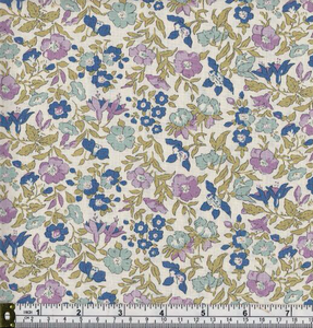 Liberty Cotton - Purple and Blue Floral