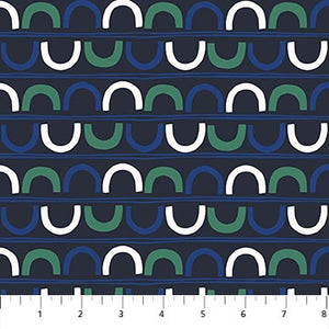 A life in Pattern - Crescent Navy