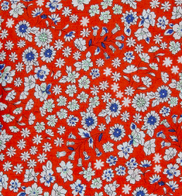 Frou Frou Flowers on Red