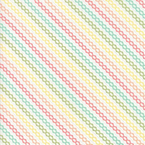 Multi-Coloured Bias Stripe