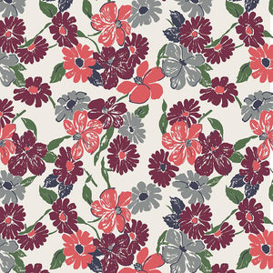 Betty's Pantry Restocked - Large Burgundy and Orange Floral