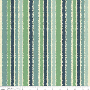 Riley Blake - Blue and Green Stripe