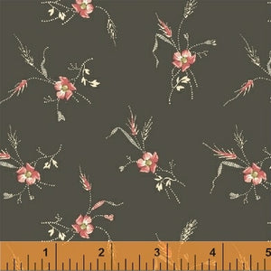 Annie - Red Floral on Brown
