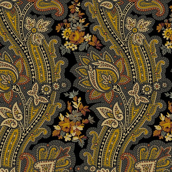 Andover - Dark Large Paisley Floral