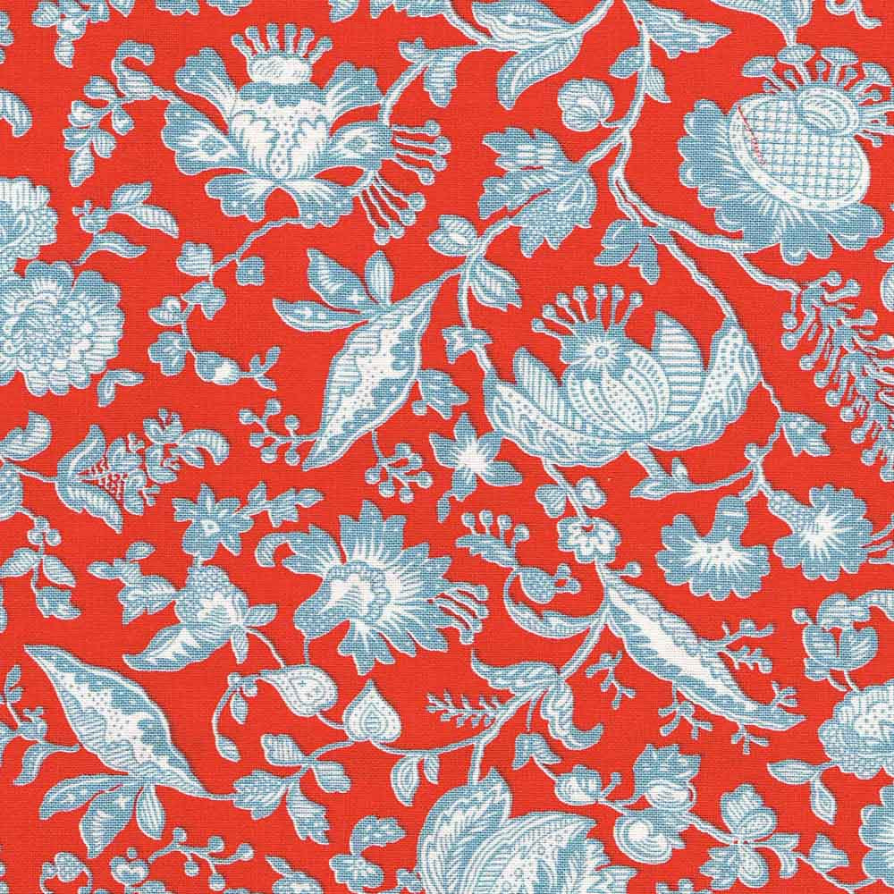 Liberty Cotton Victoria Floral - Red