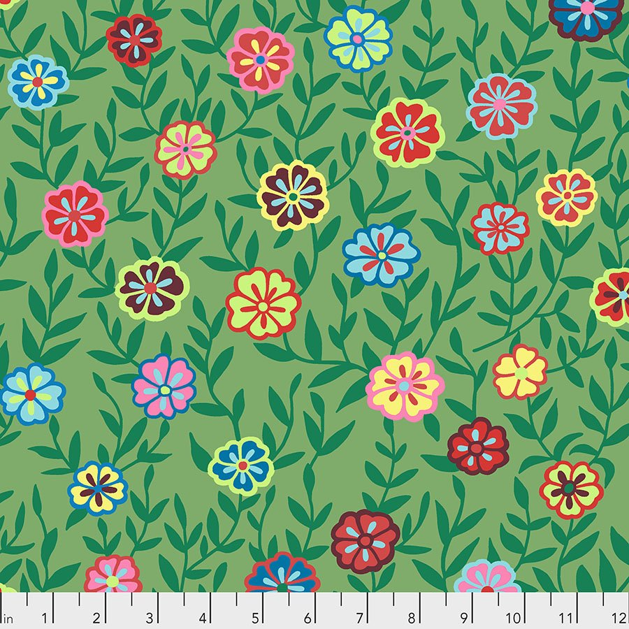 Kaffe Fassett Collective - Floral on Green