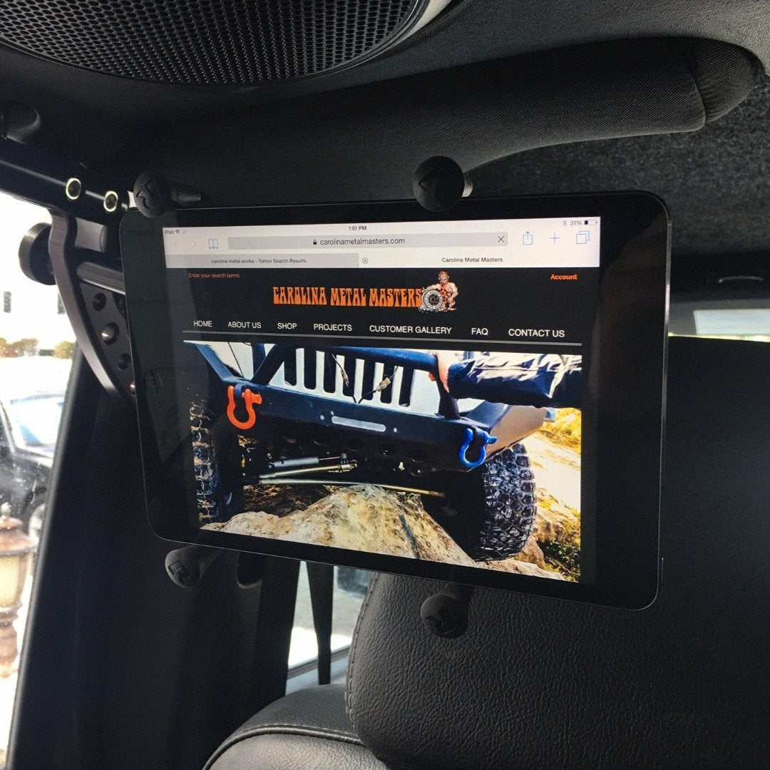 REPLACEMENT MIRROR STANCHION IN JKU REAR LOOP HANDLE IPDA FOR BACK SEAT PASSENGERS IN RAM MOUNT IPAD X-GRIP WITH IPAD