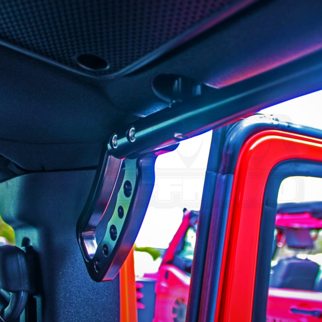 Black Anodize JK JKU Rear Loop Grab Handles
