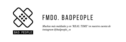 Sigue a BAD PEOPLE en instagram
