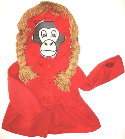 NEW GIRLS 24 Month Jacket ( HOODIE ) W/ Attachable PIGGY TAILS