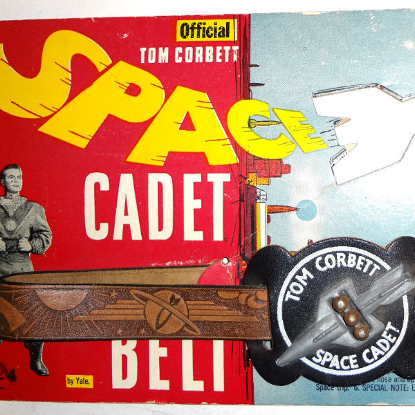 TOM CORBETT 1950's SPACE CADET BELT (GUN HOLSTER) w/ orig packing