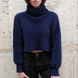Olann Cropped Turtleneck Sweater Pattern