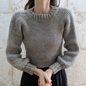 Olann Light Cropped Crewneck Pattern