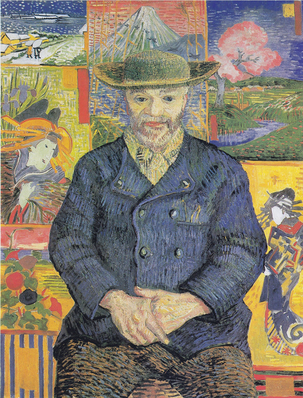 Portrait of Père Tanguy, painted by Vincent van Gogh.