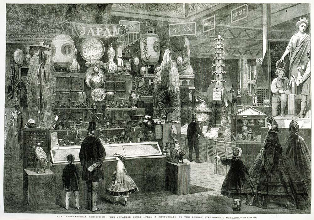 The Japan stand at the London World Fair, 1862