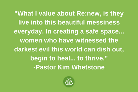 Pastor Kim Whetstone with Re:new Project