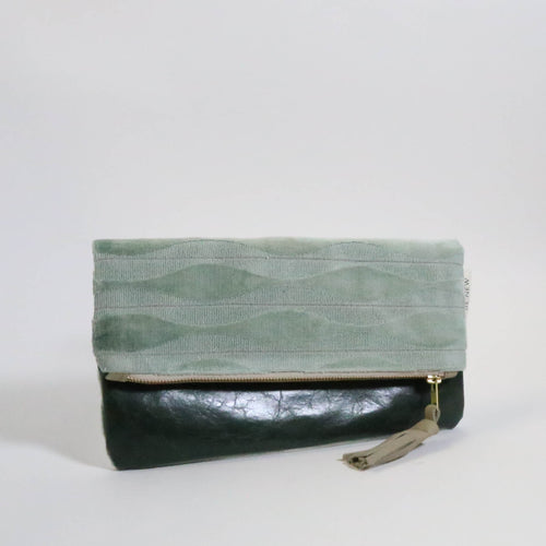 Ahlam Leather Foldover Clutch