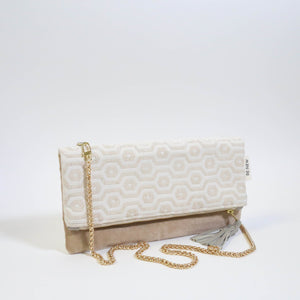 Ahlam Foldover Clutch with Gold Chain