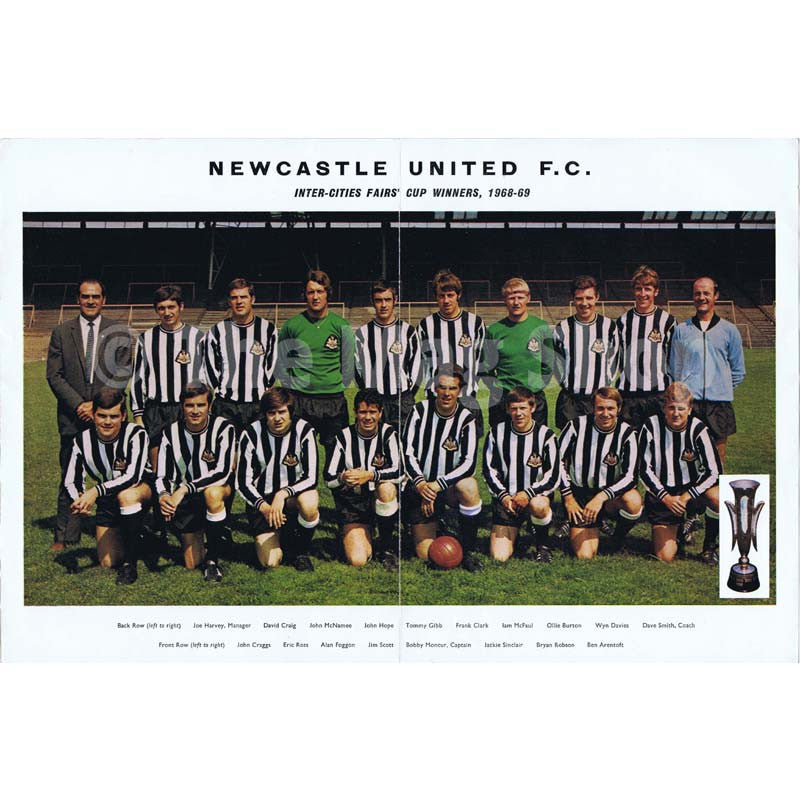 Newcastle United Official Brochure | 1969 |  The Mag Shop