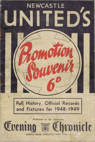 Newcastle United's Promotion Souvenir Brochure 1948 | NUFC The Mag Shop