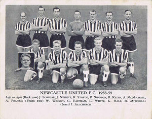 Newcastle United F.C. 1958-59 Card | NUFC The Mag Shop