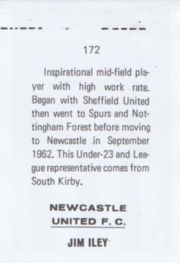 Jim Iley | Newcastle United | Football Sticker | NUFC The Mag Shop