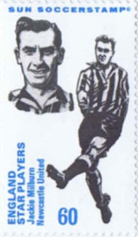 Jackie Milburn | Newcastle United | Football Stamp | NUFC The Mag Shop