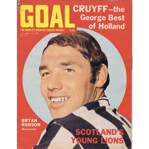 Goal Magazine | 10 January 1970 | Bryan Pop Robson | Newcastle United | The Mag Shop