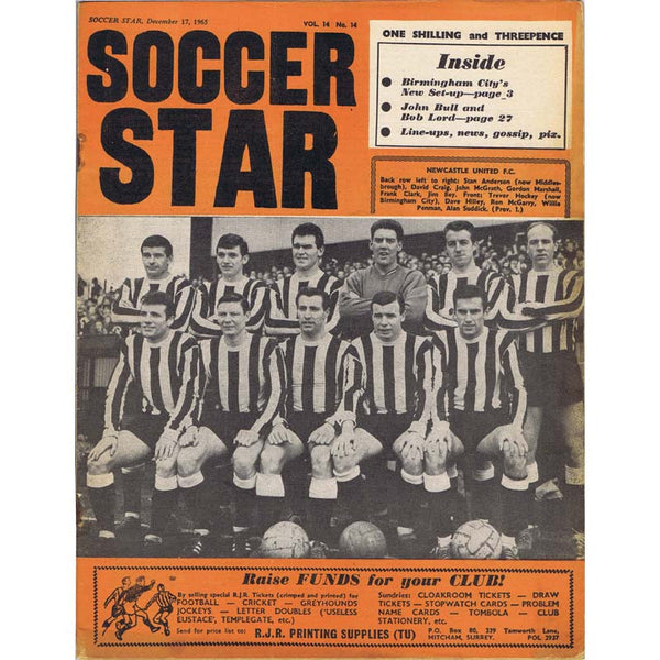 Soccer Star Magazine | 17 December 1965 | Newcastle United | The Mag Shop