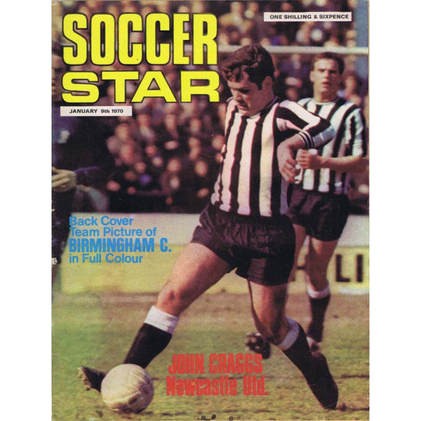 Soccer Star Magazine | 9 January 1970 | John Craggs Newcastle United | The Mag Shop