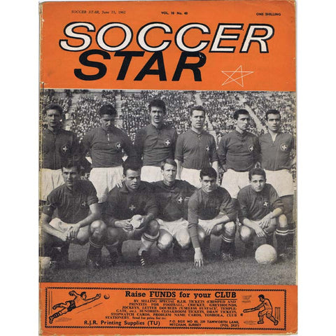 Soccer Star Magazine | 23 June 1962 | Newcastle United | The Mag Shop