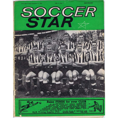 Soccer Star Magazine | 22 September 1962 | Newcastle United | The Mag Shop