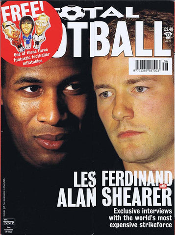 Total Football Magazine | June 1997 | Newcastle United | Alan Shearer | Les Ferdinand | The Mag Shop