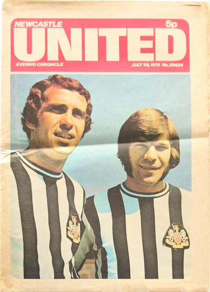 Newcastle United | Evening Chronicle Colour Newspaper Publication | 29 July 1972