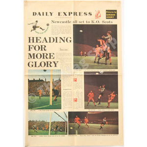 Newcastle United Fairs Cup | Daily Express Special Colour Pullout | Dundee United | The Mag Shop