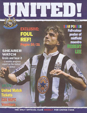 United! Magazine 1996 - David Ginola Keegan Newcastle United
