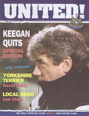 United! Magazine 1997 Newcastle United Kevin Keegan