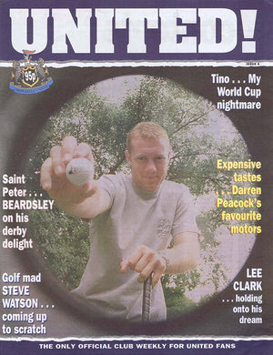 United! Magazine 1996 Newcastle United Steve Watson