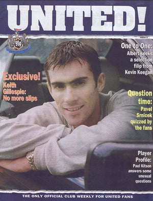 United! Magazine 1996 - Keith Gillespie Newcastle United