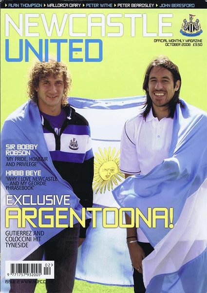 Newcastle United Official Magazine No.2 | October 2008 | NUFC The Mag Shop