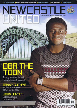 Newcastle United Official Magazine No.4 | December 2008 | NUFC The Mag Shop