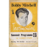 Bobby Mitchell | Newcastle United | Testimonial Match | 9 October 1961 | Souvenier Programme | The Mag Shop