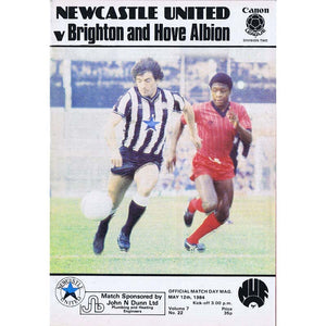 Newcastle United  v Brighton | 12 May 1984 | League Division Two Programme | The Mag Shop