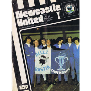 Newcastle United v Bastia | 2 November 1977 | UEFA Cup Programme | The Mag Shop