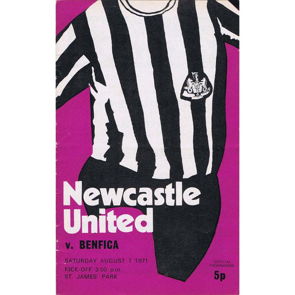 Newcastle United v Benfica | Friendly Match | 7 August 1971 | Programme | The Mag Shop