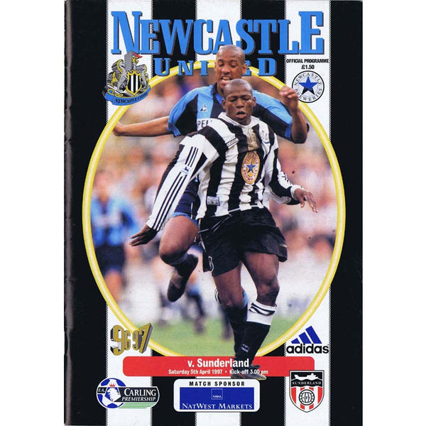 Newcastle United  v sunderland | 5 April 1997 | Premiership Programme | The Mag Shop