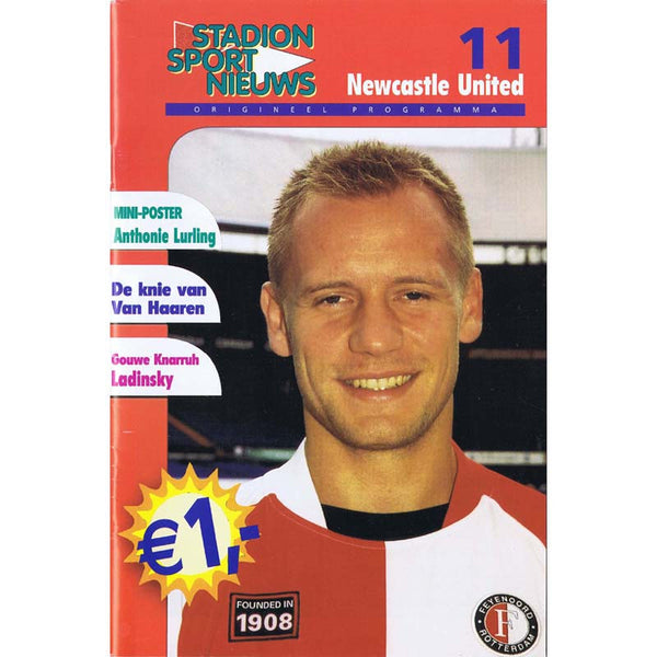 Feyenoord v Newcastle United | Champ[ions League 13 November 2002 Programme | The Mag Shop