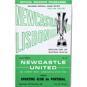 Newcastle United v Sporting Club de Portugal | 20 November 1968 | UEFA Cup Programme | The Mag Shop