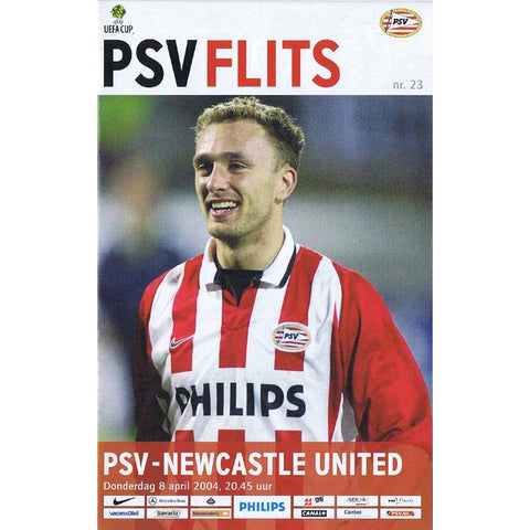 PSV Eindhoven v Newcastle United | UEFA Cup | 8 April  2004 Programme | The Mag Shop